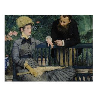 Cartão Postal No conservatório - Édouard Manet (1879)