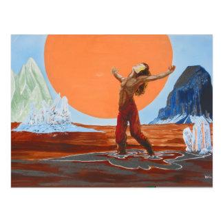 Cartão Postal No deserto de grito