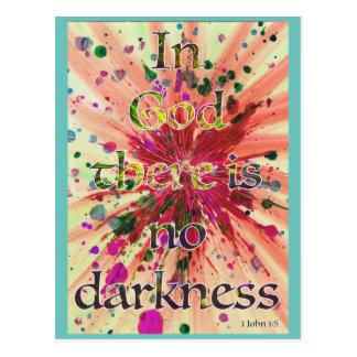 """Cartão Postal """"No deus não há nenhuma escuridão"""" 1 arte da"""
