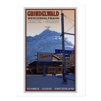 Cartão Postal No estação de caminhos-de-ferro de Grindelwald