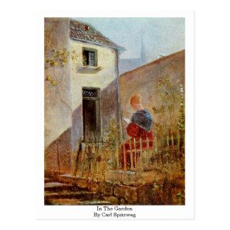 Cartão Postal No jardim por Carl Spitzweg