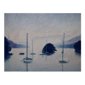 Cartão Postal no lago Windermere