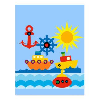 Cartão Postal No oceano