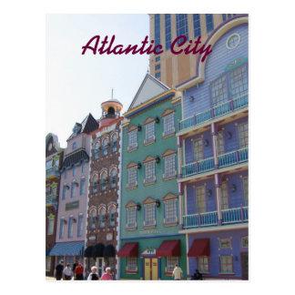 Cartão Postal No passeio à beira mar--Atlantic City, NJ