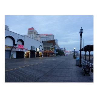 Cartão Postal No passeio à beira mar em Atlantic City, NJ