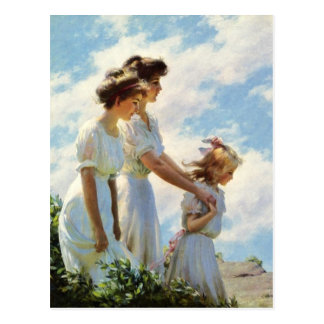 Cartão Postal No penhasco por Charles Courtney Curran