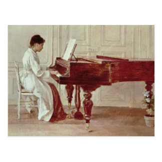 Cartão Postal No piano, 1887 (óleo em canvas)