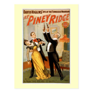 Cartão Postal No poster Piney do teatro do vintage de Ridge