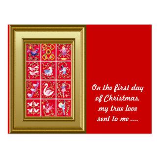 Cartão Postal No primeiro dia do Natal meu amor verdadeiro