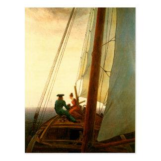 Cartão Postal No veleiro