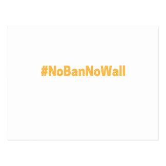 Cartão Postal #NoBanNoWall do março das mulheres