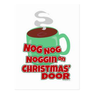 Cartão Postal Nogging na porta do Natal