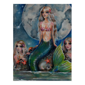 Cartão Postal Noite da sereia