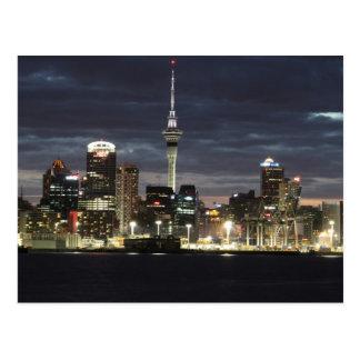 Cartão Postal Noite de Auckland @