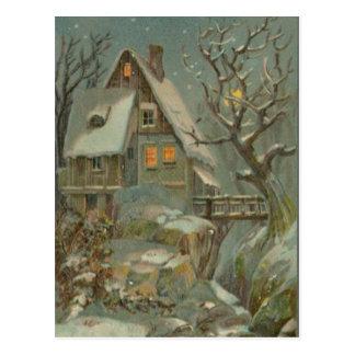 Cartão Postal Noite de Natal fria