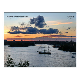 Cartão Postal Noite de verão em Éstocolmo, Phot…