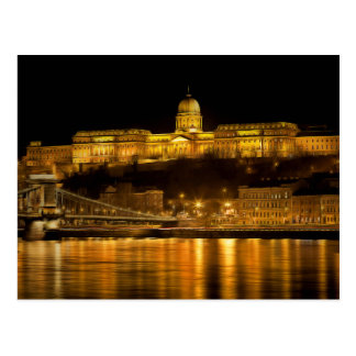 Cartão Postal Noite do ouro de Budapest
