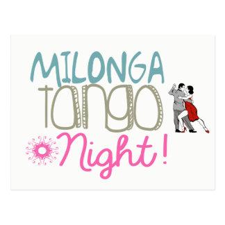 Cartão Postal Noite do tango de Milonga