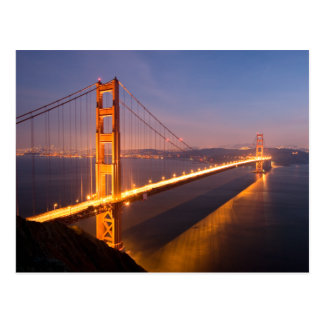 Cartão Postal Noite em golden gate bridge