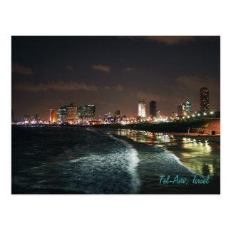 Cartão Postal Noite em Tel Aviv, Israel