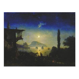 Cartão Postal Noite enluarada de Ivan Aivazovsky- em Crimeia.