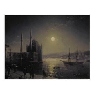 Cartão Postal Noite enluarada de Ivan Aivazovsky- no Bosphorus