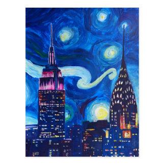 Cartão Postal Noite estrelado New York
