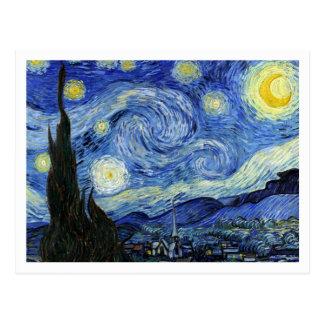 Cartão Postal Noite estrelado por Vincent van Gogh