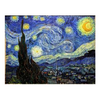 Cartão Postal Noite estrelado por Vincent van Gogh 1889