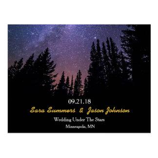 Cartão Postal Noite estrelado que Wedding economias horizontais