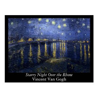 Cartão Postal Noite estrelado sobre o Rhone - o Van Gogh (1888)