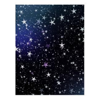 Cartão Postal Noite muito estrelado