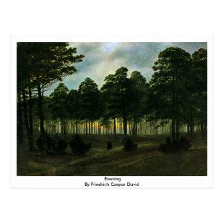 Cartão Postal Noite por Friedrich Caspar David