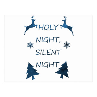 Cartão Postal Noite santamente, noite silenciosa