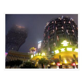 Cartão Postal noites do casino de macau
