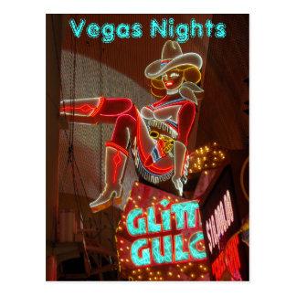 Cartão Postal Noites do centro de Las Vegas