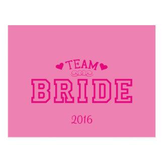 Cartão Postal Noiva da equipe