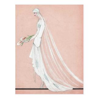 Cartão Postal noiva dos anos 20