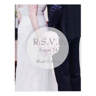 Cartão Postal Noiva & noivo que Wedding RSVP