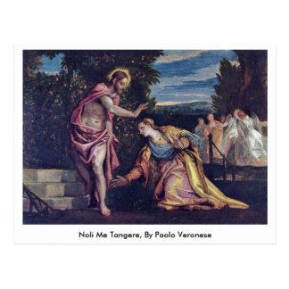 Cartão Postal Noli mim Tangere, por Paolo Veronese