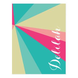Cartão Postal Nome cor-de-rosa do costume do Aqua