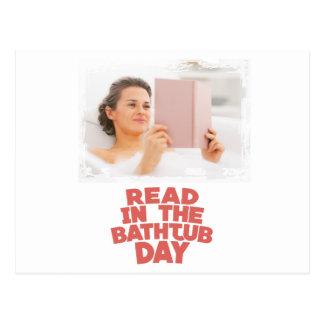 Cartão Postal Nono fevereiro - lido dentro o dia da banheira