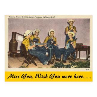 Cartão Postal North Carolina, banda de dança quadrada, vila de