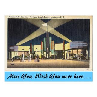 Cartão Postal North Carolina, motores de Norment, Lumberton