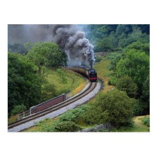 Cartão Postal North Yorkshire amarra a estrada de ferro,