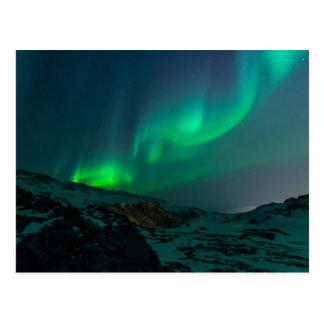 Cartão Postal northern luzes