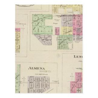 Cartão Postal Norton, Lenora, Almena, Densmore, Almelo, Kansas