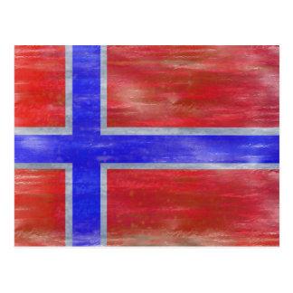 Cartão Postal Noruega afligiu a bandeira norueguesa