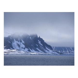 Cartão Postal Noruega, círculo ártico, Oceano Atlântico norte.