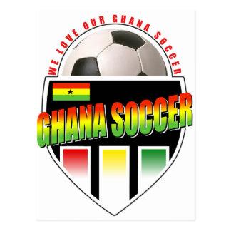 Cartão Postal Nós amamos nosso futebol de Ghanna!